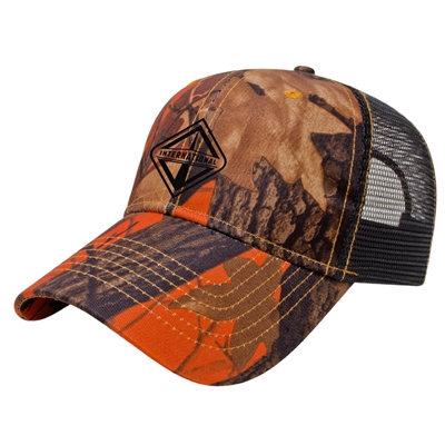 I483 - Orange Ridge Camo with Black Mesh Back