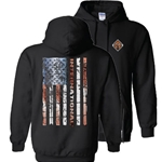 I689 - Flag Hooded Sweatshirt