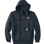 I1844 - Carhartt Rain Defender Paxton Heavyweight Hooded Zip Mock Sweatshirt